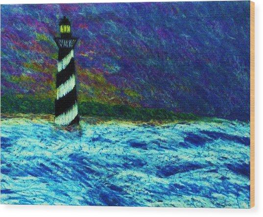 Cape Hetteras Light House Wood Print by Jeanette Stewart