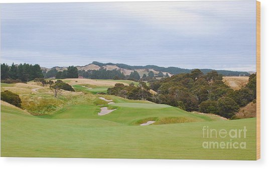 Cape Kidnappers  1 Golf Course New Zealand  Wood Print