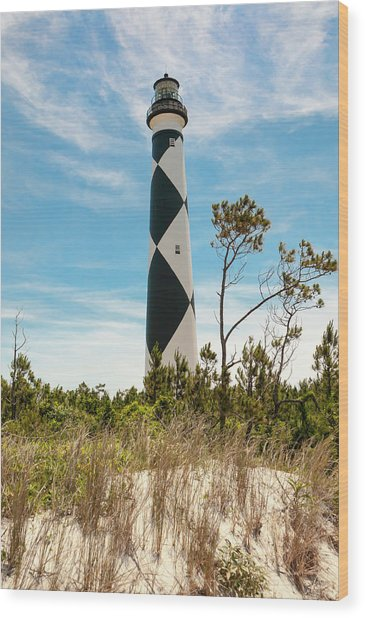 Cape Lookout Light No 2 Wood Print