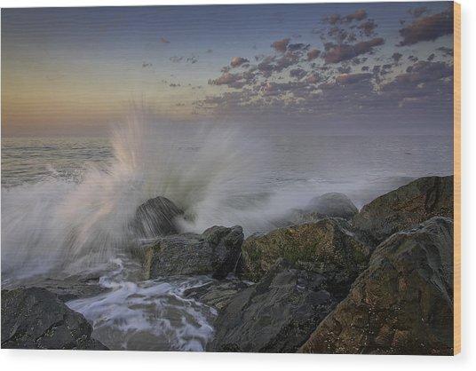 Cape May High Tide Wood Print