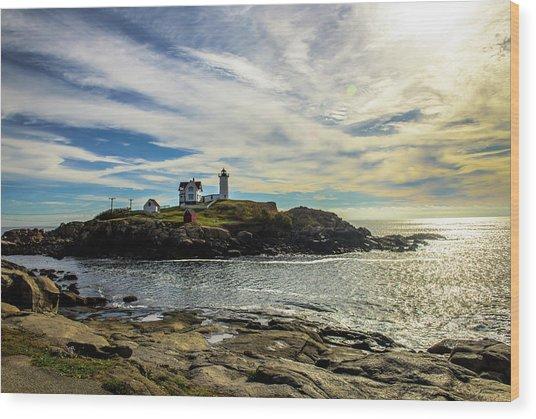 Cape Neddick Lighthouse Wood Print