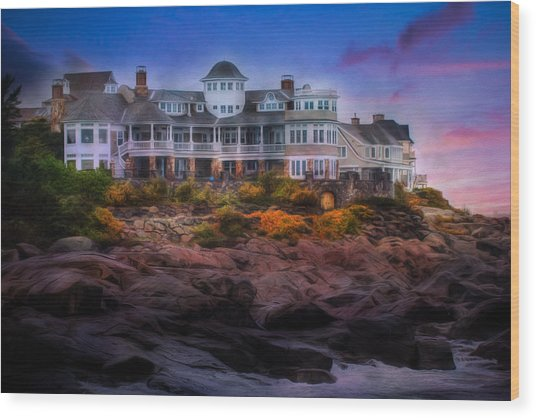 Cape Neddick Maine Scenic Vista Wood Print