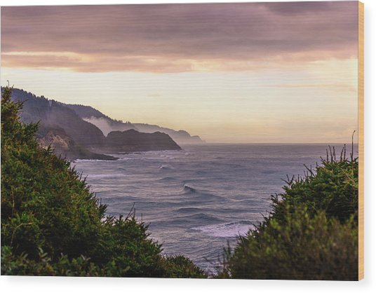 Cape Perpetua, Oregon Coast Wood Print