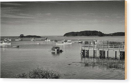 Cape Porpoise Harbor Wood Print