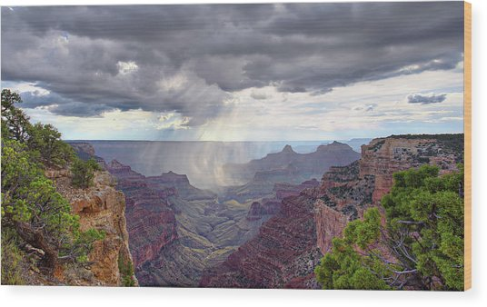 Cape Royal Squall Wood Print