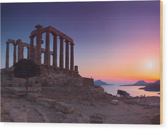 Cape Sounion Wood Print