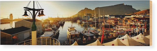 Cape Town's Waterfront Wood Print