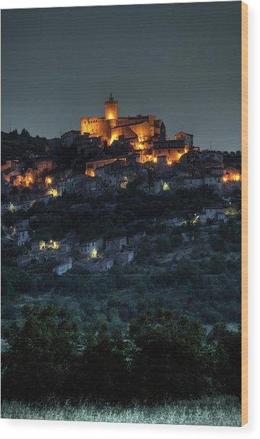 Capestrano Abruzzo Italy Wood Print by Tom  Doherty