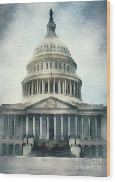 Capitol Building, Washington Wood Print