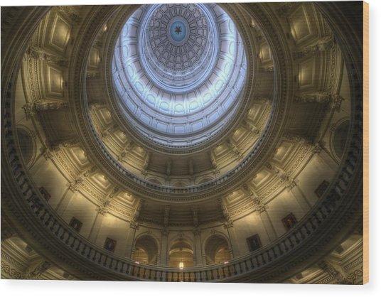 Capitol Dome Interior Wood Print