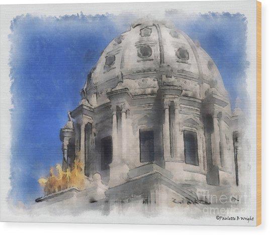 Capitol Dome St Paul Minnesota Wood Print