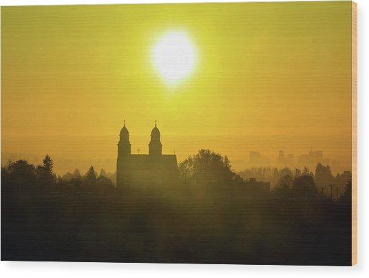 Capitol Hill Sunrise   Wood Print