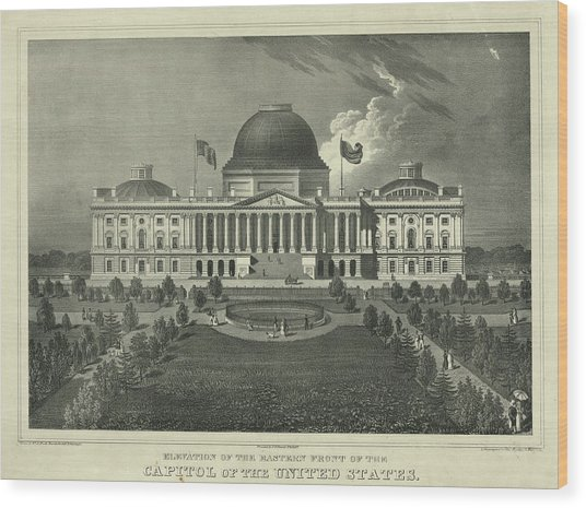 Capitol Of The Unites States Wood Print