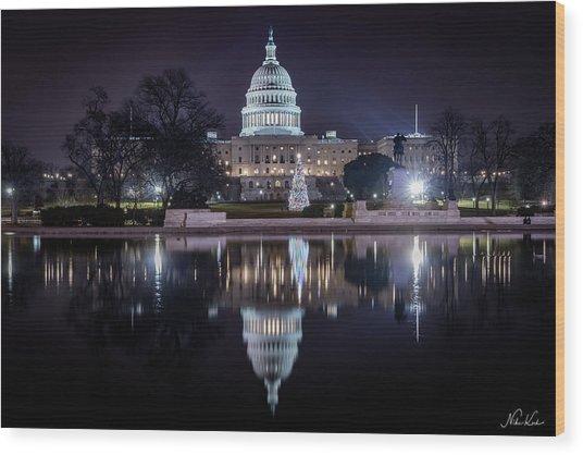 Capitol Reflects Wood Print