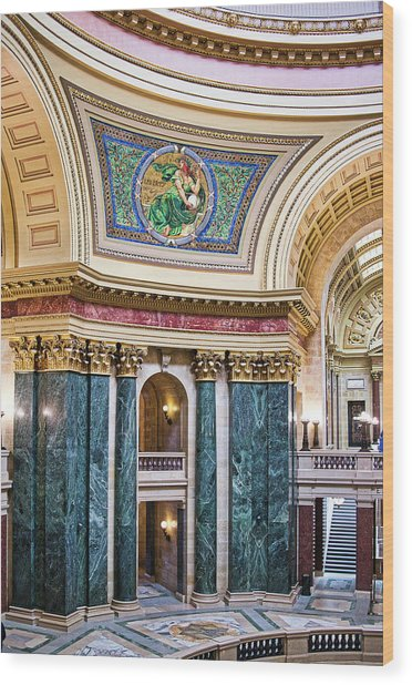 Capitol Rotunda -madison - Wisconsin Wood Print