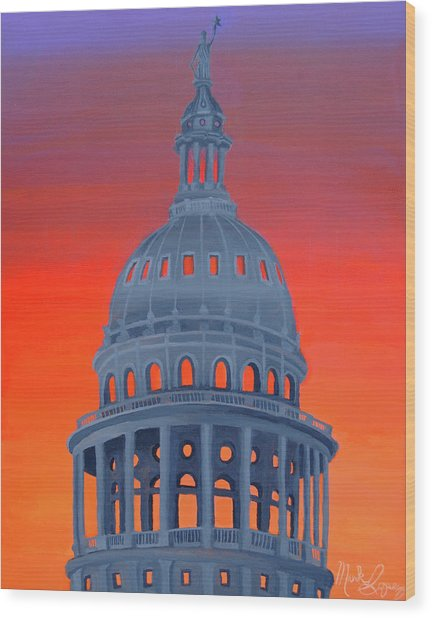 Capitol Warmth Wood Print