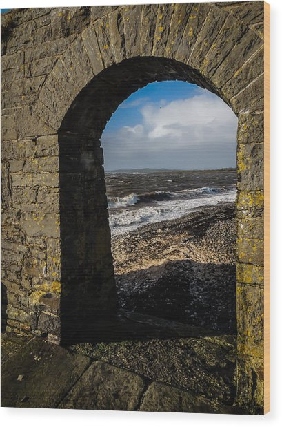 Cappagh Pier And Ireland's Shannon Estuary Wood Print