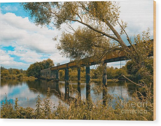 Cappaquin Railway Bridge Wood Print