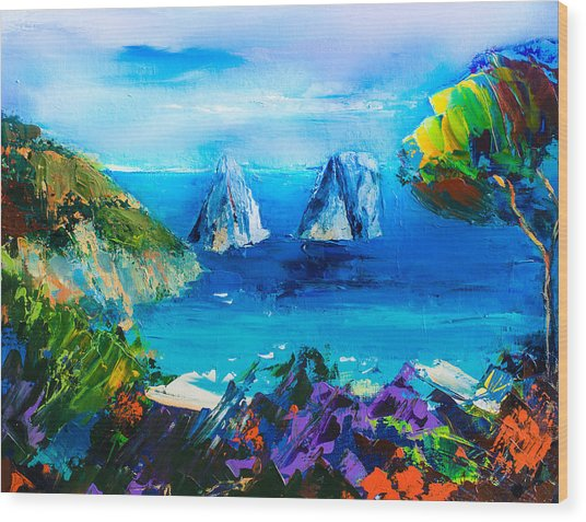 Capri Colors Wood Print
