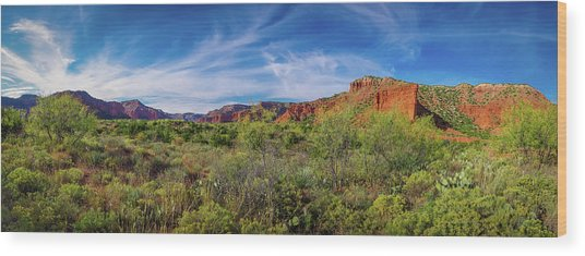 Caprock Canyon Panorama 2 Wood Print