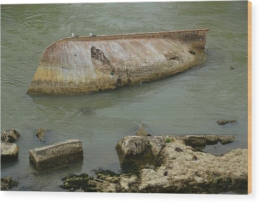 Capsized Wood Print by JAMART Photography