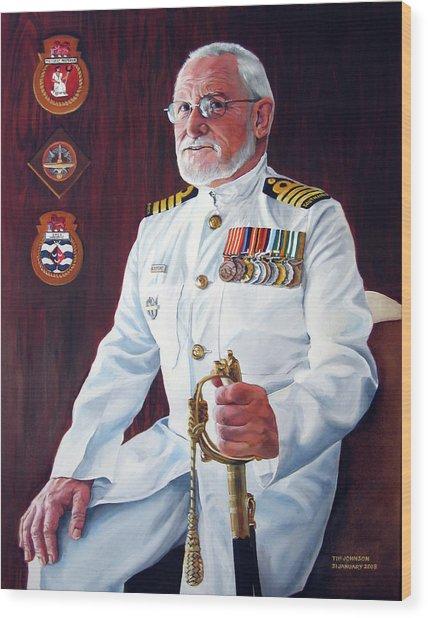 Capt John Lamont Wood Print