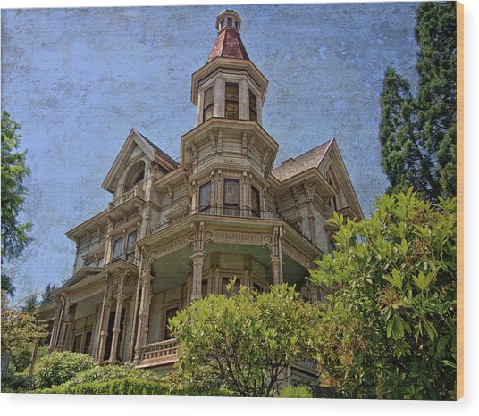 Wood Print featuring the photograph Captain George Flavel House by Thom Zehrfeld