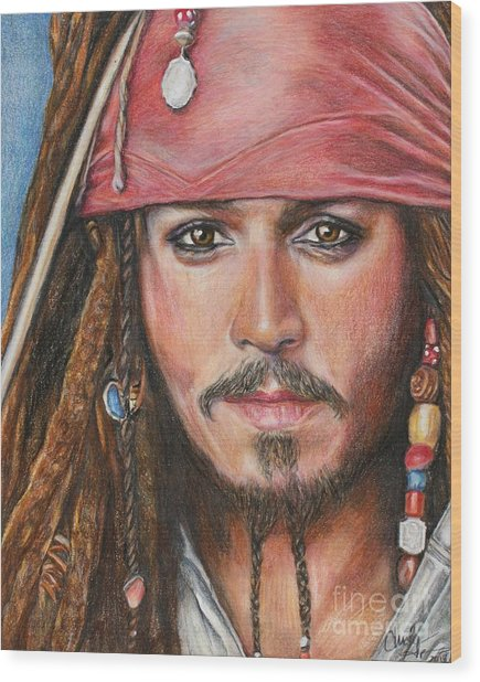 Captain Jack Wood Print