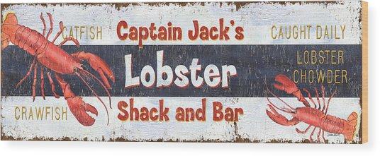 Captain Jack's Lobster Shack Wood Print