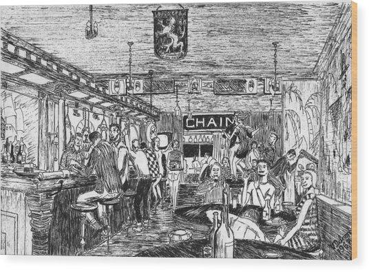 Captain Kidd Club Wood Print