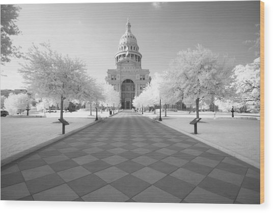 Captiol Ir Wood Print by John Gusky