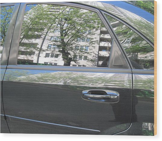 Car And Reflection Wood Print by Kostyantyn Serodkin