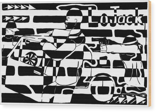 Car-jacking Maze For Lojack Advert Wood Print by Yonatan Frimer Maze Artist