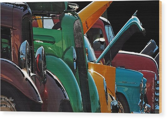 Car Show V Wood Print