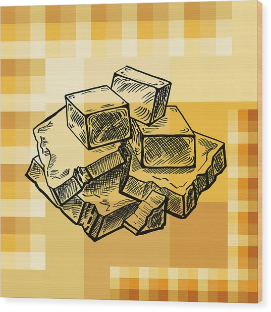 Caramel And Fudge Wood Print