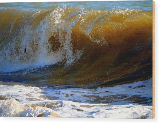 Caramel Swirl Wood Print