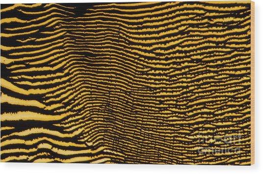 Interlaced Lines Wood Print