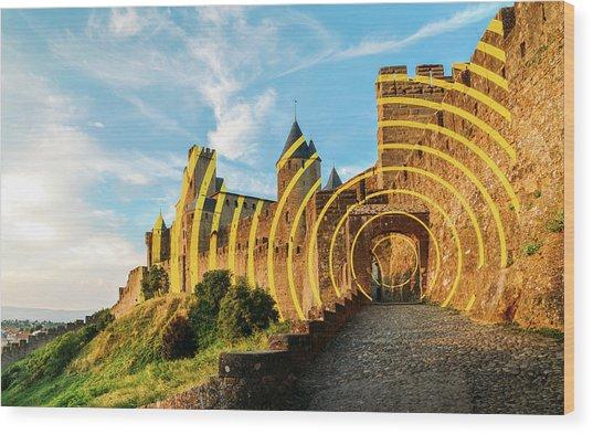 Carcassonne's Citadel, France Wood Print