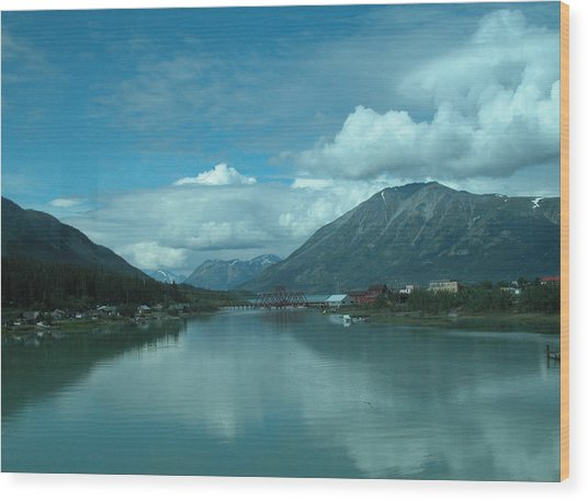 Carcross - So Much Blue Wood Print by William Thomas