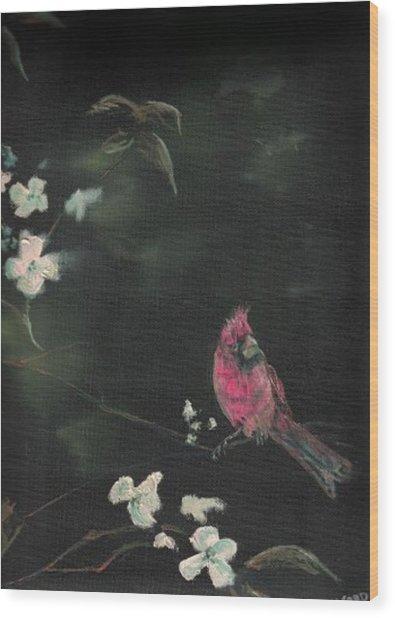 Cardinal 1 Wood Print by Raymond Doward