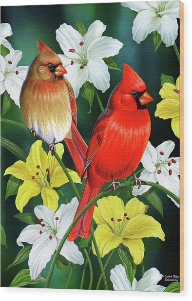 Cardinal Day 2 Wood Print
