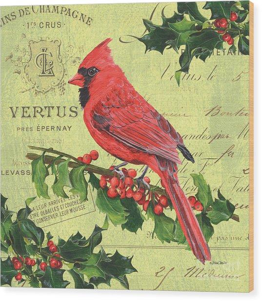 Cardinal Peace Wood Print