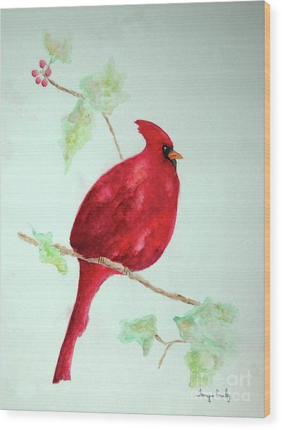 Cardinal Wood Print