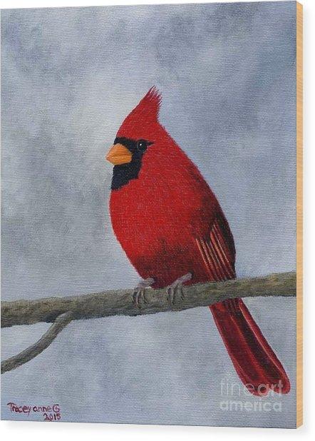 Cardnial Wood Print