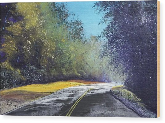 Carefree Highway Wood Print