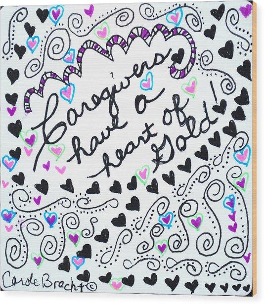 Caregiver Hearts Wood Print