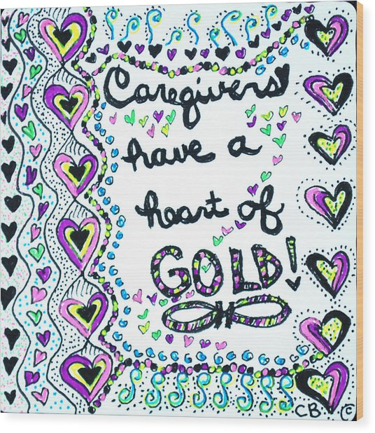 Caregiver Joy Wood Print