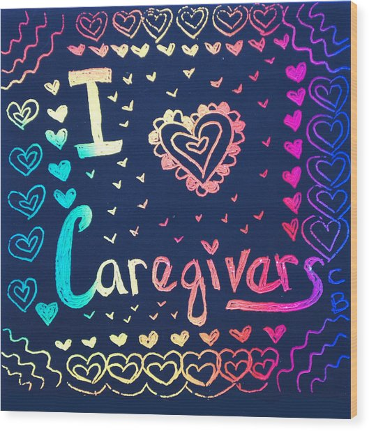 Caregiver Rainbow Wood Print