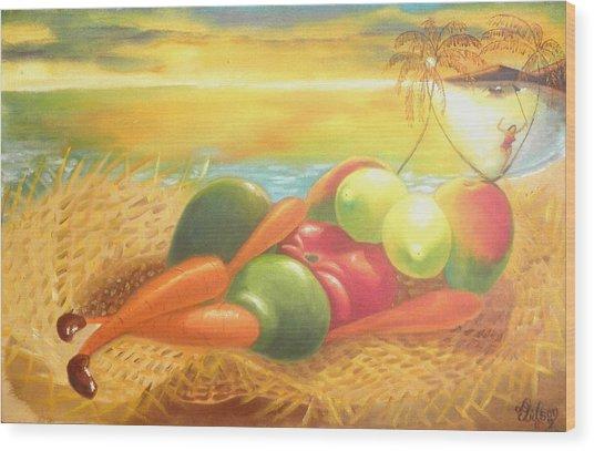 Caribbean Afrodite Wood Print