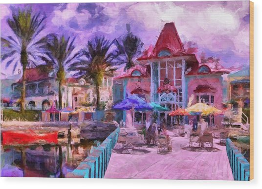 Caribbean Beach Resort Wood Print